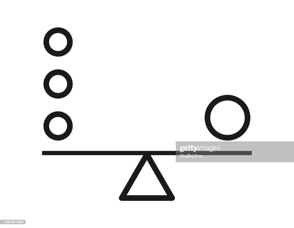 Balance harmony vector icon isolated on transparent background. Business flat concept