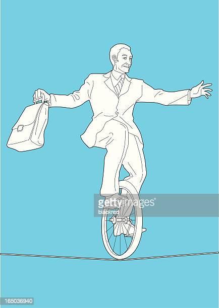 balance - unicycle stock illustrations, clip art, cartoons, & icons