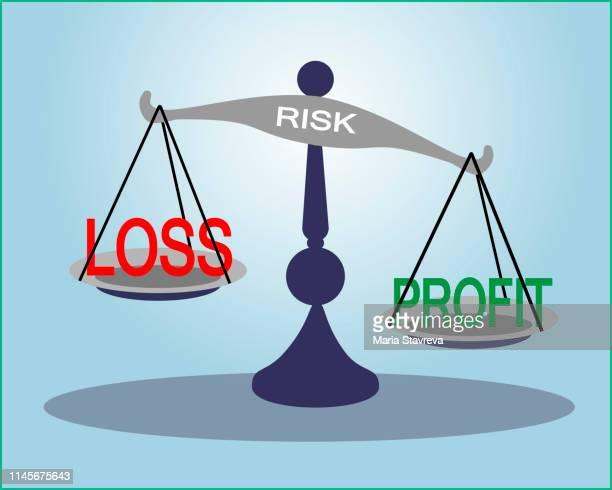 balancing profit and loss.vector - lost stock illustrations, clip art, cartoons, & icons
