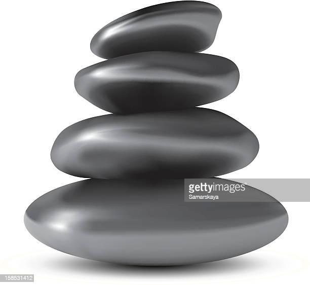 balancing stones - stone stock illustrations, clip art, cartoons, & icons