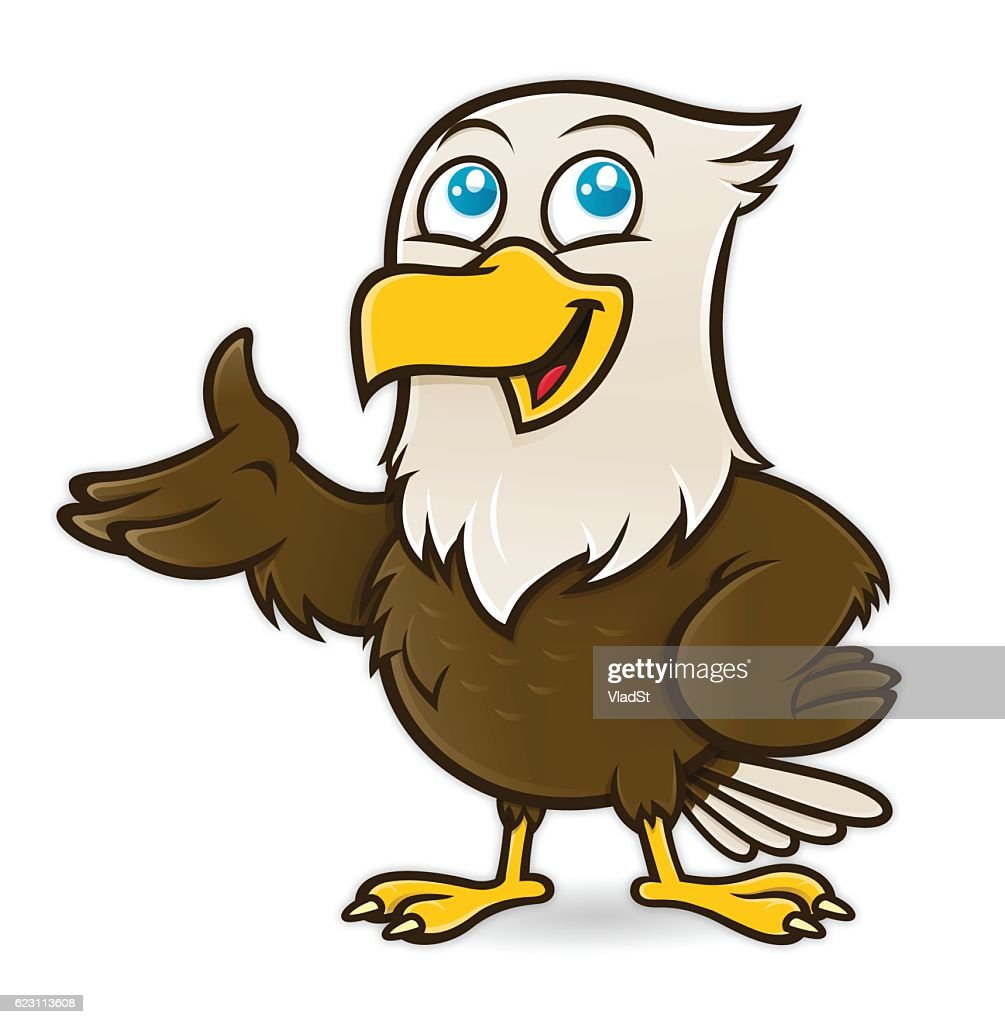Bald Eagle bird cartoon character mascot