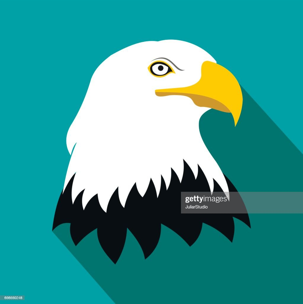 Bald eagle flat icon