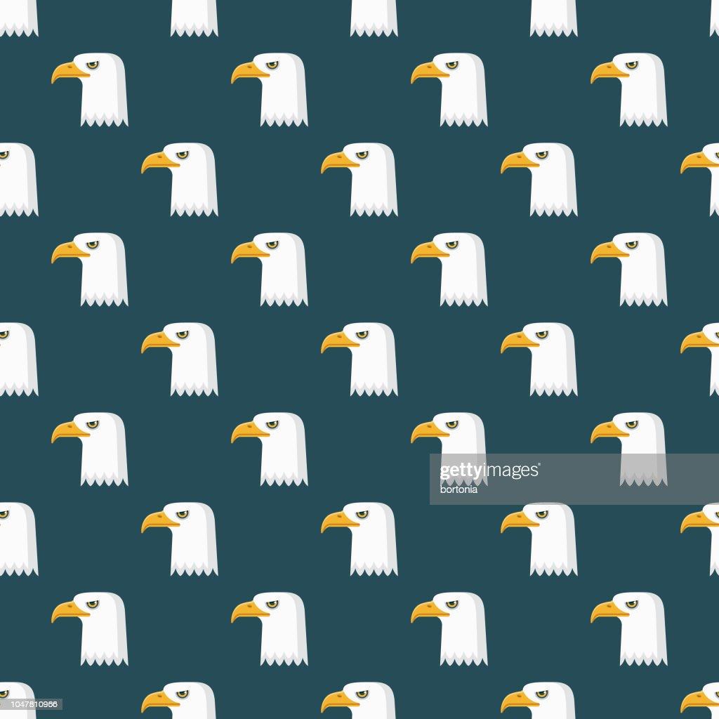 Bald Eagle USA Seamless Pattern