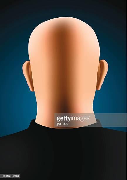 bald man - balding stock illustrations, clip art, cartoons, & icons