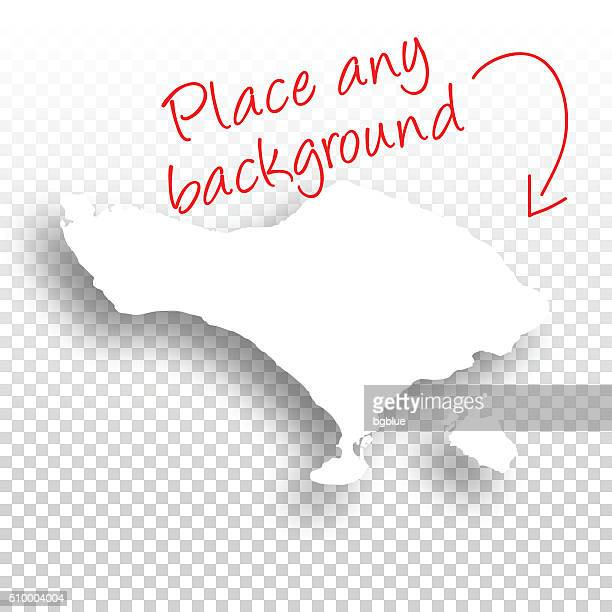 bali map for design - blank background - bali stock illustrations