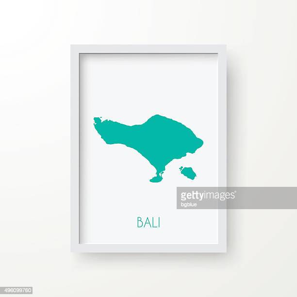bali map in frame on white background - bali stock illustrations
