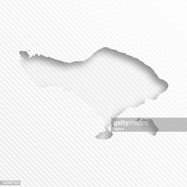 bali map with paper cut on abstract white background - bali stock illustrations