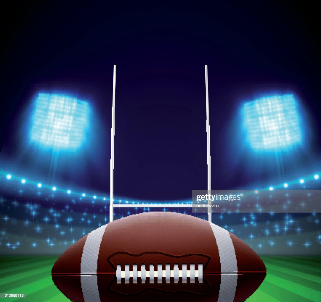 ball and american football field eps 10