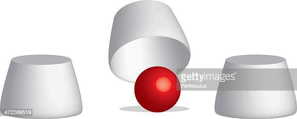 ball and cups - hidden stock illustrations, clip art, cartoons, & icons