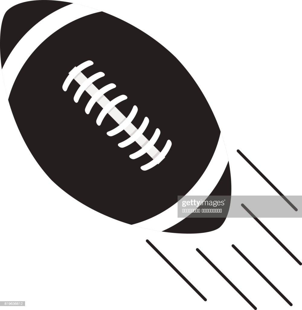 Ball for playing rugby and the American soccer in flat style a vector