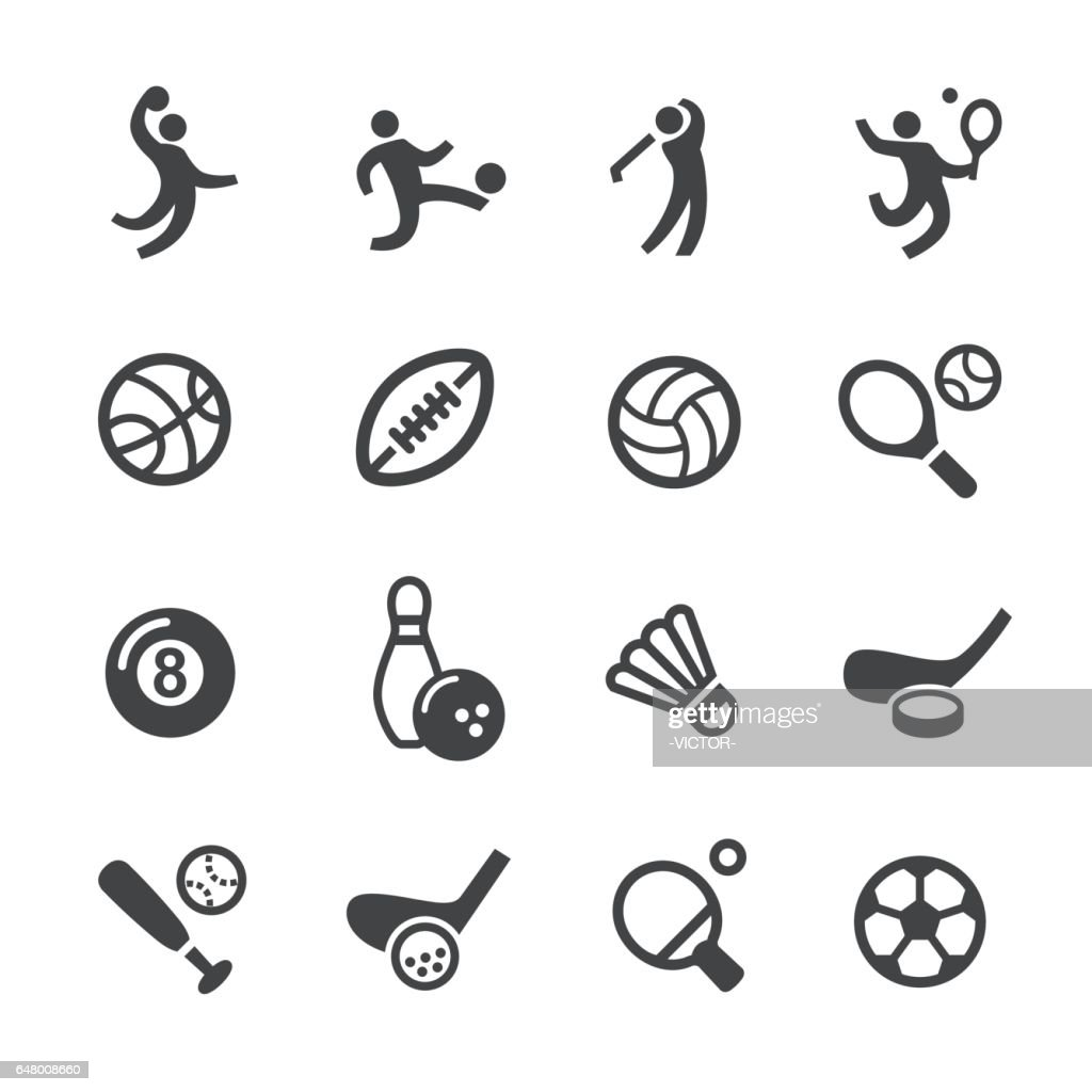 Ball Games Icons - Acme Series : stock illustration
