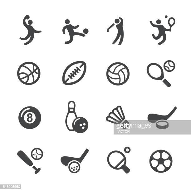 ball games icons - acme series - match sport stock illustrations, clip art, cartoons, & icons