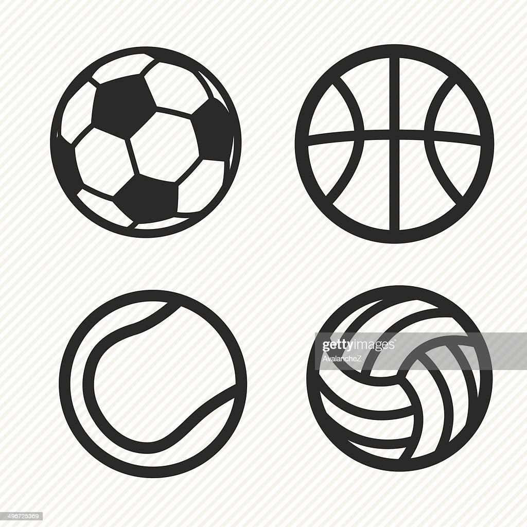 ball icons set.