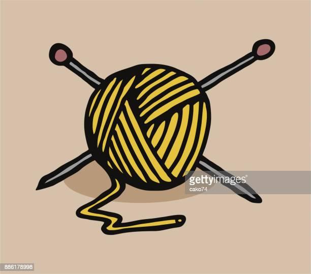 Bola de color arte de lana