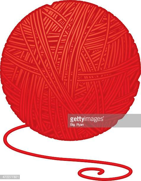 ball of yarn - string stock illustrations