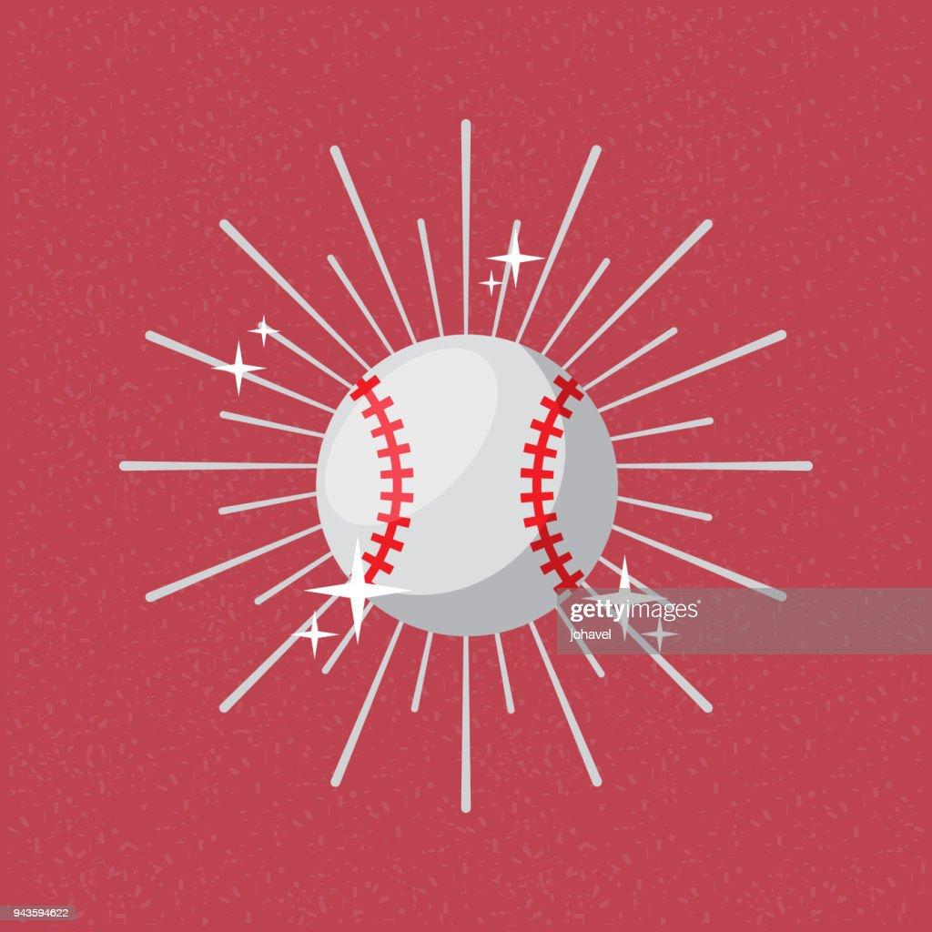 ball sport baseball sunburst color background