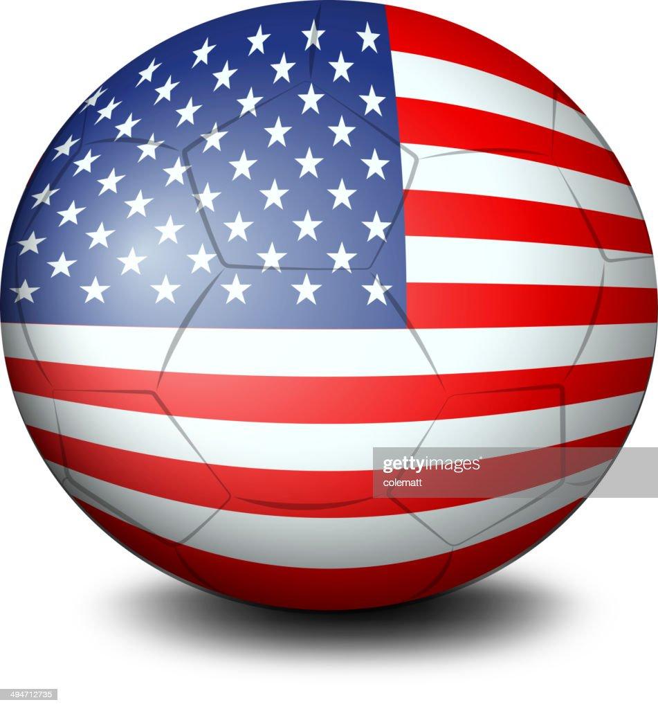 Ball with the USA flag