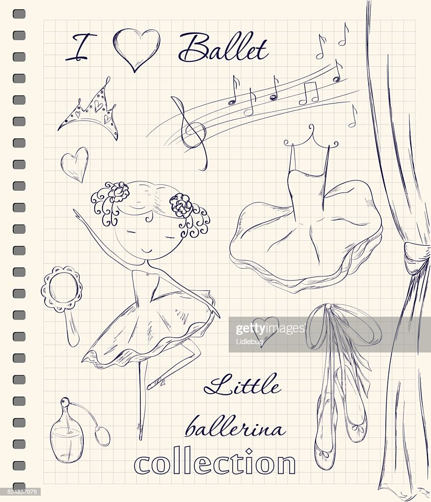 ballerina and accessories