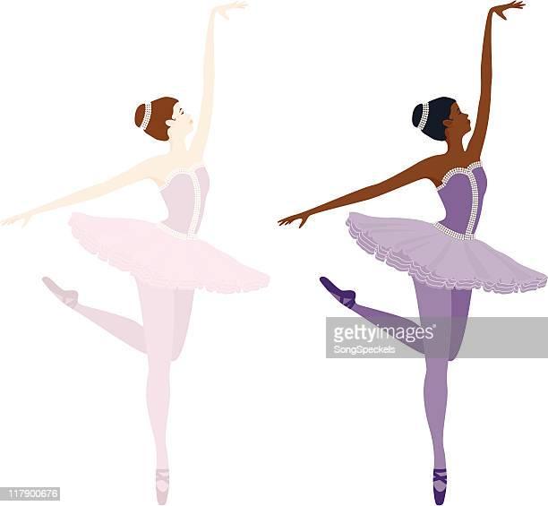 Ballerina on toes