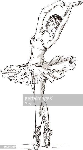 ilustrações, clipart, desenhos animados e ícones de bailarina - bailarina