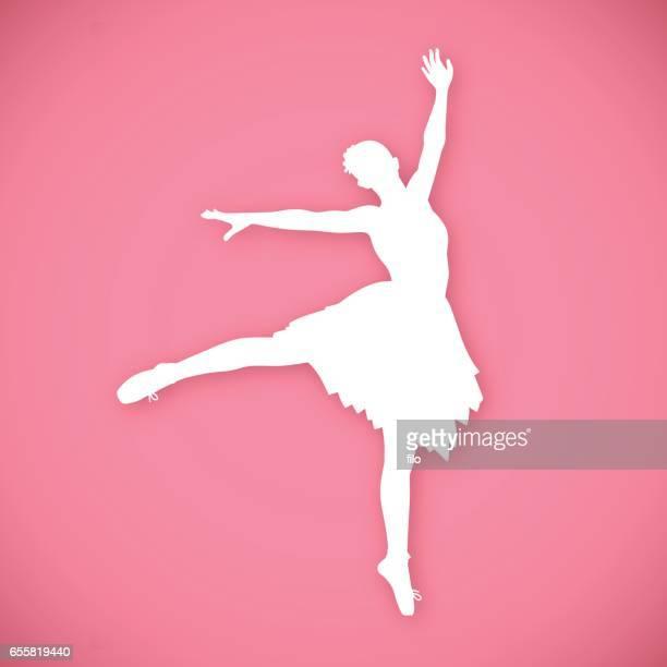 ilustraciones, imágenes clip art, dibujos animados e iconos de stock de bailarina de ballet clásico bailarín - zapatilla de ballet