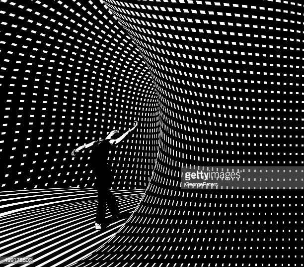 Ballett-Tänzer aus Halbton Muster futuristische Portal