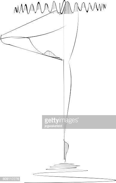 ilustraciones, imágenes clip art, dibujos animados e iconos de stock de bailarín de ballet - zapatilla de ballet