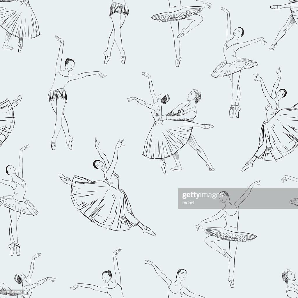 ballet dancers pattern