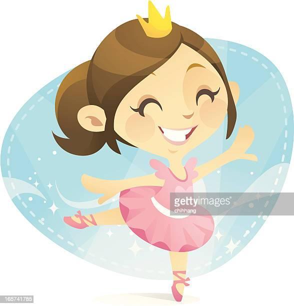 ilustraciones, imágenes clip art, dibujos animados e iconos de stock de princesa del ballet - zapatilla de ballet