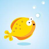 Balloon fish. Vector illustration.