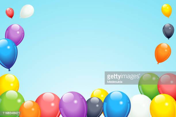 balloon frame vector - balloon stock illustrations