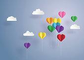 balloon in a heart shape.