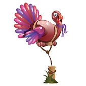 Balloon in the shape of a Turkey, holidays symbol