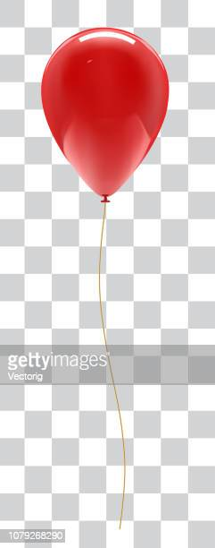 balloon isolated on white background with reflection - balloon stock illustrations