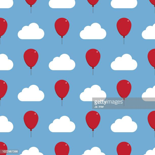 balloon pattern background - ethereal stock illustrations, clip art, cartoons, & icons
