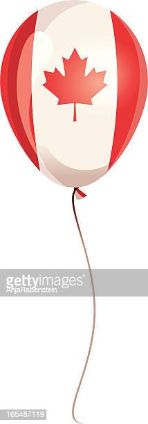 balloon with symbol of canada / canadian flag - canada day stock illustrations