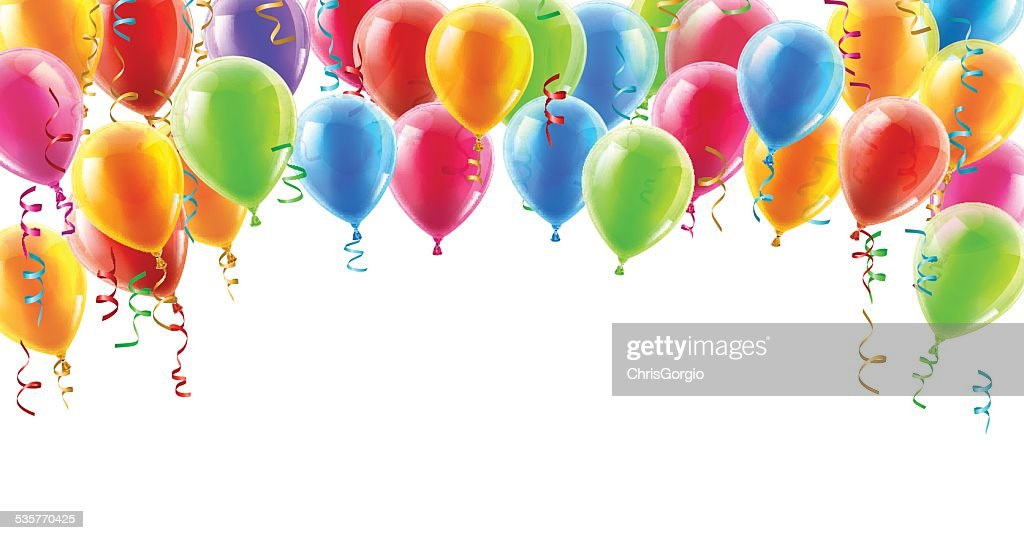 Balloons header background