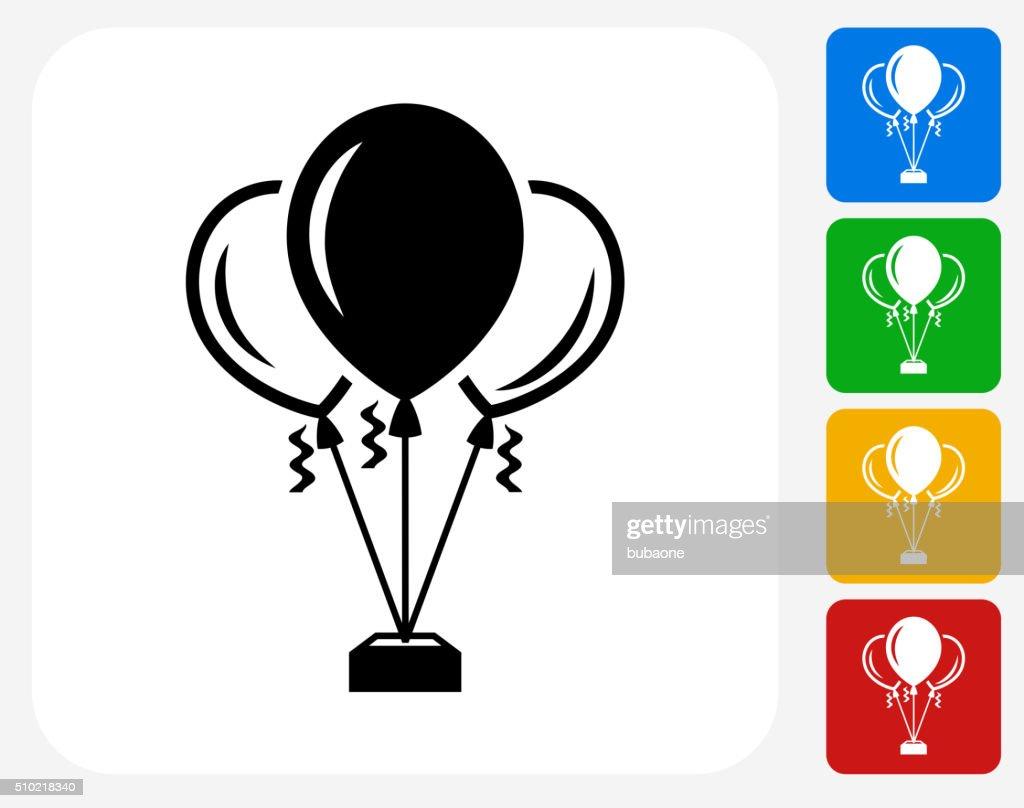 Balloons Icon Flat Graphic Design