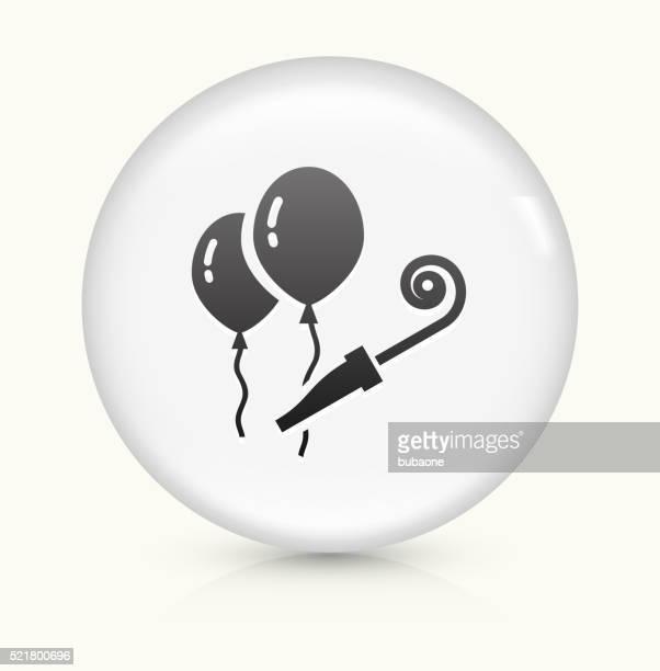 風船のアイコンホワイト丸いベクトルボタン