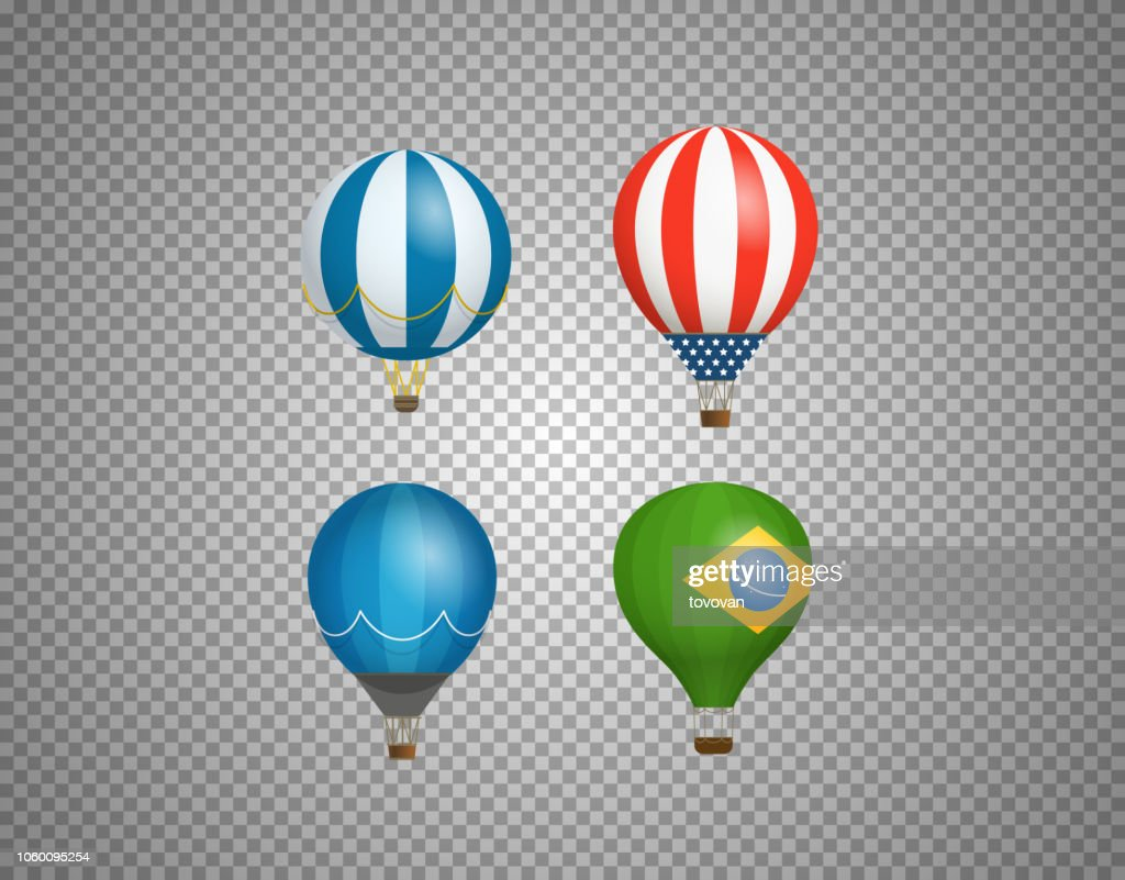 Balloons isolated on transparent background. Layered and detailed illustration