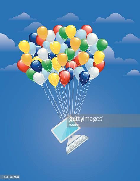 Balloons lifting computer