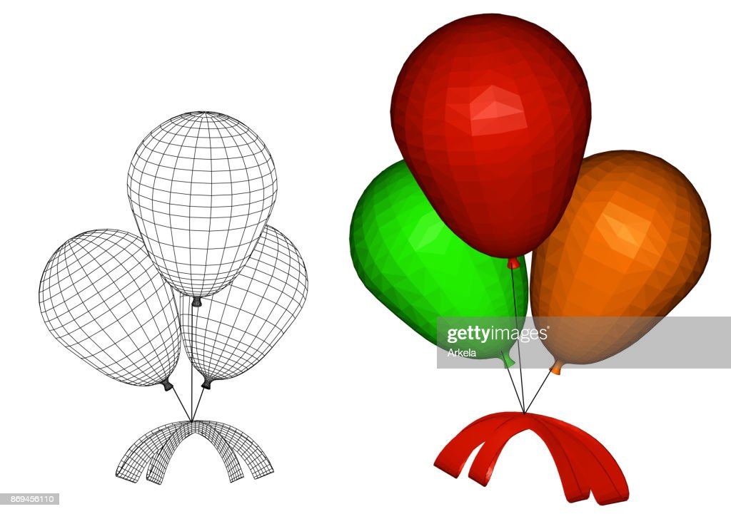 balloons with a bow