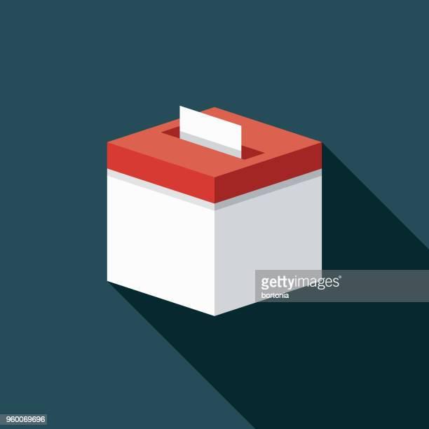 投票箱フラット デザイン選挙アイコン側の影 - 候補点のイラスト素材/クリップアート素材/マンガ素材/アイコン素材