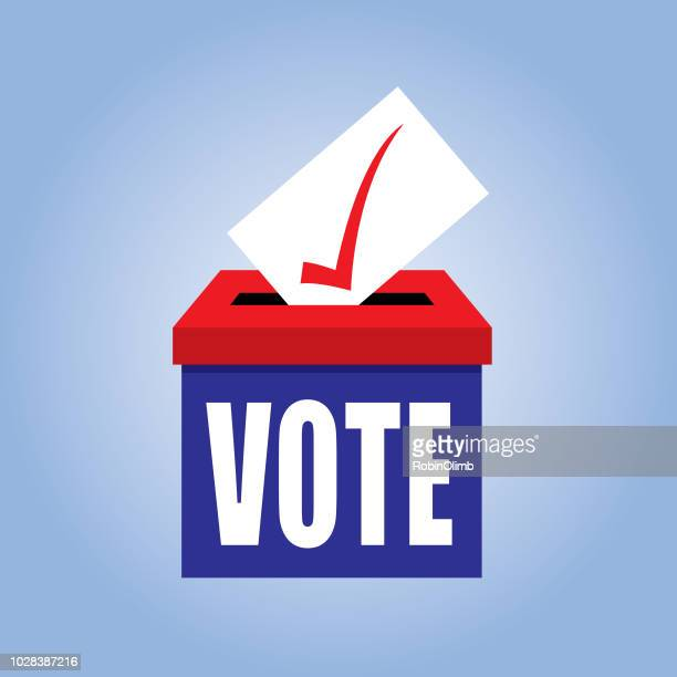 ballot box icon - election stock illustrations