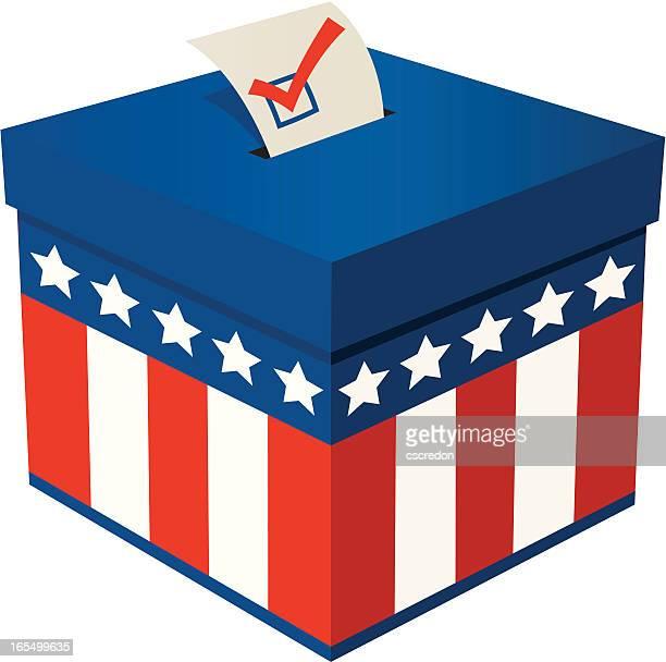 ilustraciones, imágenes clip art, dibujos animados e iconos de stock de urna de voto - urna de voto