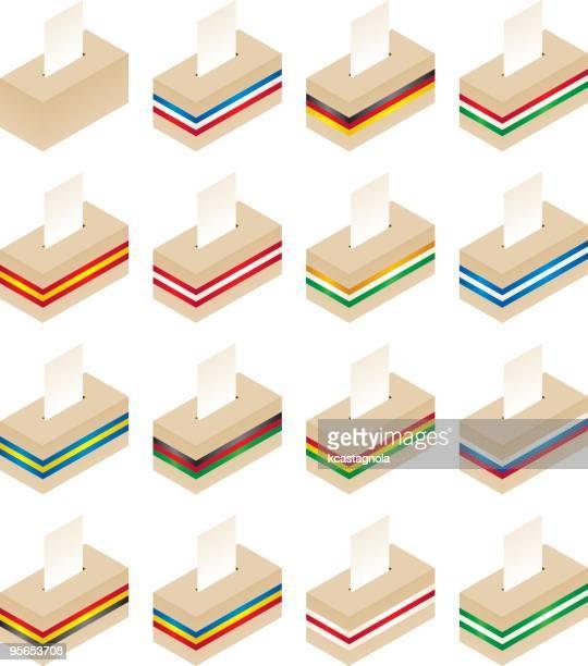 ballot boxes - ghana stock illustrations, clip art, cartoons, & icons