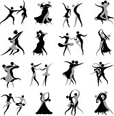 Ballroom and Latin Dancing Symbols