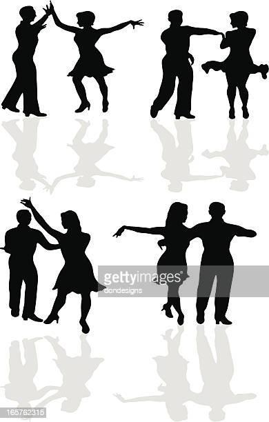 ballroom dance latin - salsa dancing stock illustrations, clip art, cartoons, & icons
