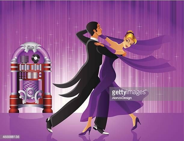 ballsaal dance show - ballsaal stock-grafiken, -clipart, -cartoons und -symbole