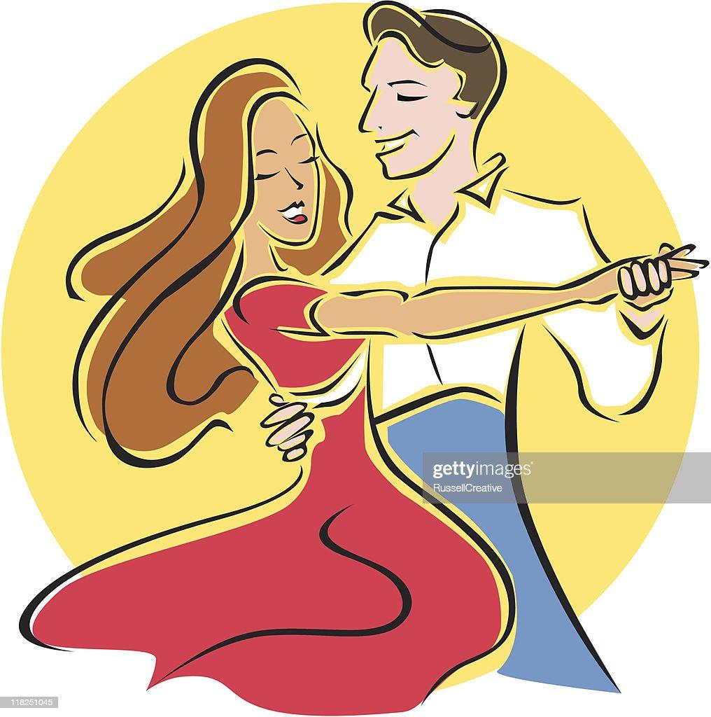Ballroom dancers : stock illustration